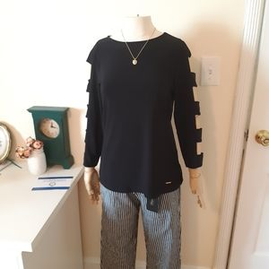 Anne Klein black top with sleeves cut outs